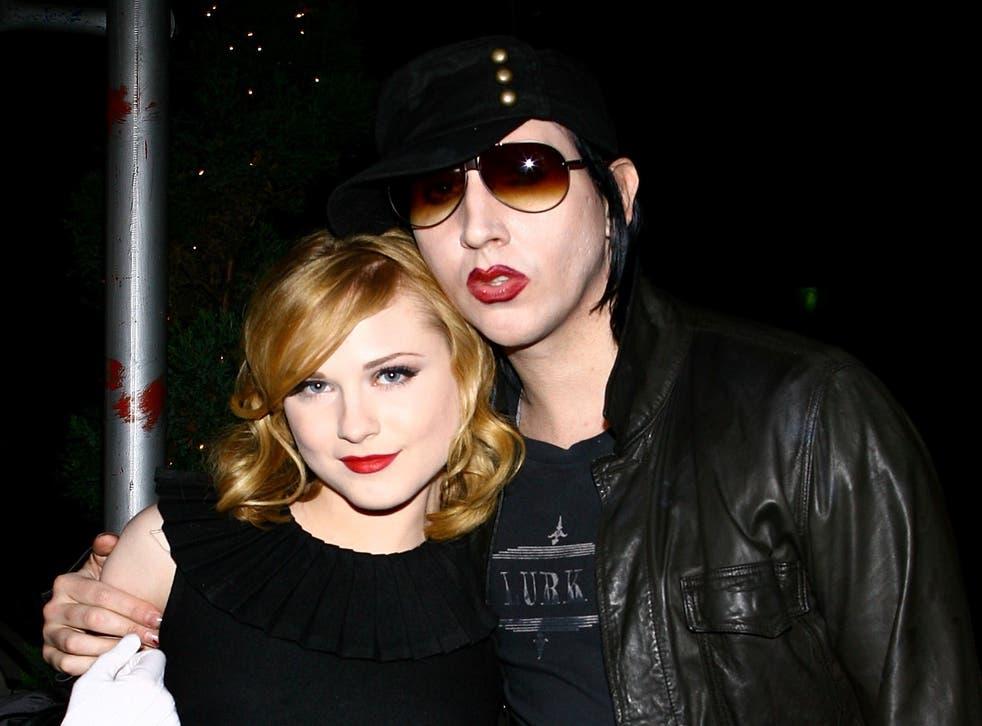 Evan Rachel Wood  with Manson in 2007