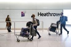 Los viajeros deben realizar dos pruebas de COVID-19 después de llegar al Reino Unido bajo reglas de cuarentena más estrictas
