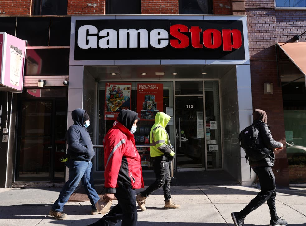A GameStop store in New York City on 28 January 2021