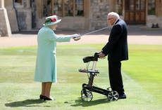 The Queen pays tribute to Captain Tom Moore, who has died aged 100