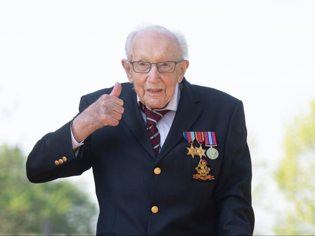 <p>Captain Sir Tom Moore died on Tuesday, aged 100</p>