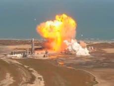 SpaceX: Prototipo SN9 del cohete Starship explota al momento de aterrizar