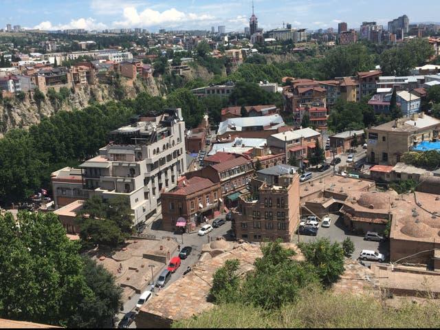 Capital view: Tbilisi in Georgia
