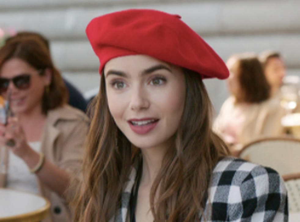 <p>Lily Collins' 'Emily in Paris' was the butt of the joke at the 2021 Golden Globes</p>
