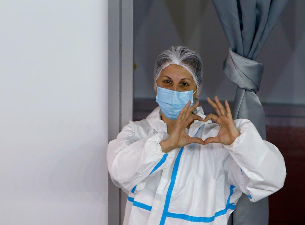 Virus Outbreak Serbia