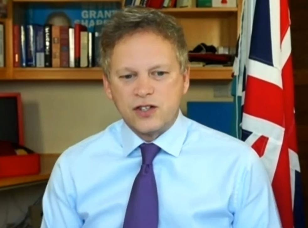<p>Transport Secretary Grant Shapps gave evidence to the Commons' Transport Select Committee on Wednesday</p>
