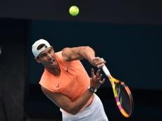 """Rafael Nadal no puede jugar """"a toda intensidad"""" antes del Abierto de Australia"""