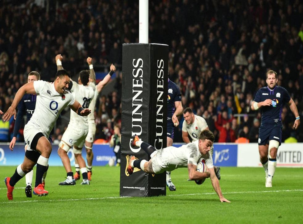 George Ford scores England's final try in a classic against Scotland at Twickenham in 2019