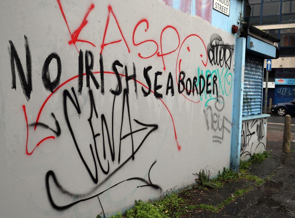 Graffiti in Stroud Street in Belfast