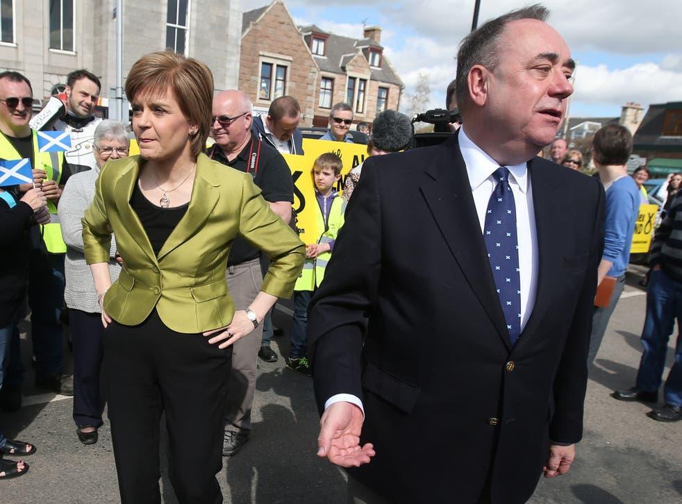 <p>Nicola Sturgeon and Alex Salmond</p>
