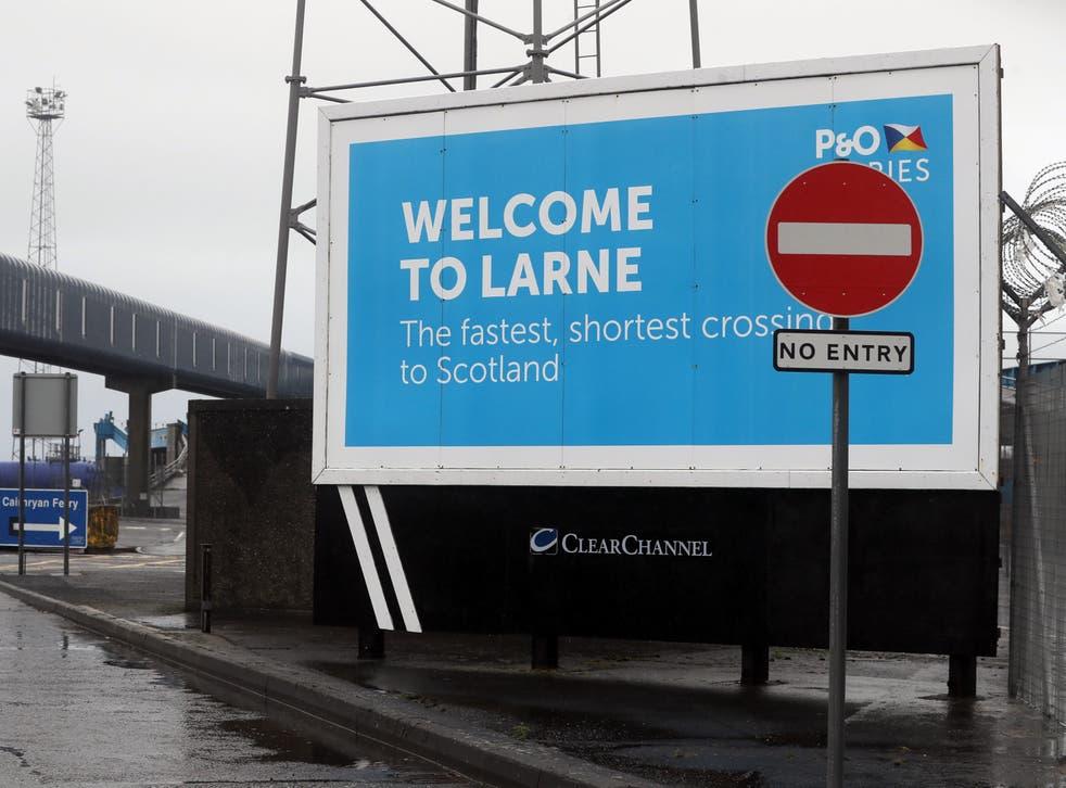 Signage at Larne Port