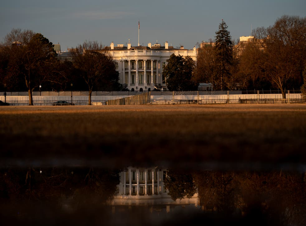 The White House now sits behind layers of fencing following the storming of the US Capitol on 6 January