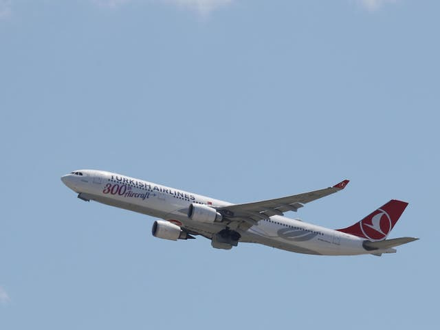 <p>An Airbus A330: the boy had climbed into the landing gear bay of a Turkish Airlines aircraft</p>