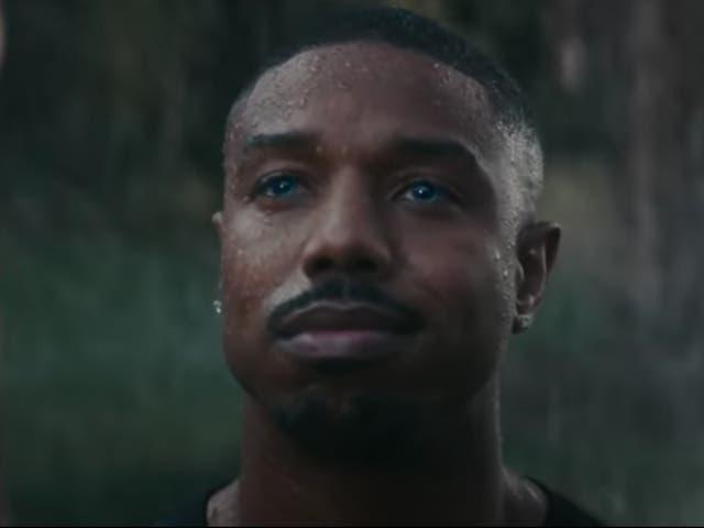 <p>Michael B Jordan en el anuncio del Super Bowl de Amazon 2021.</p>