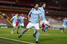 Premier League: Manchester City golea a domicilio al Liverpool