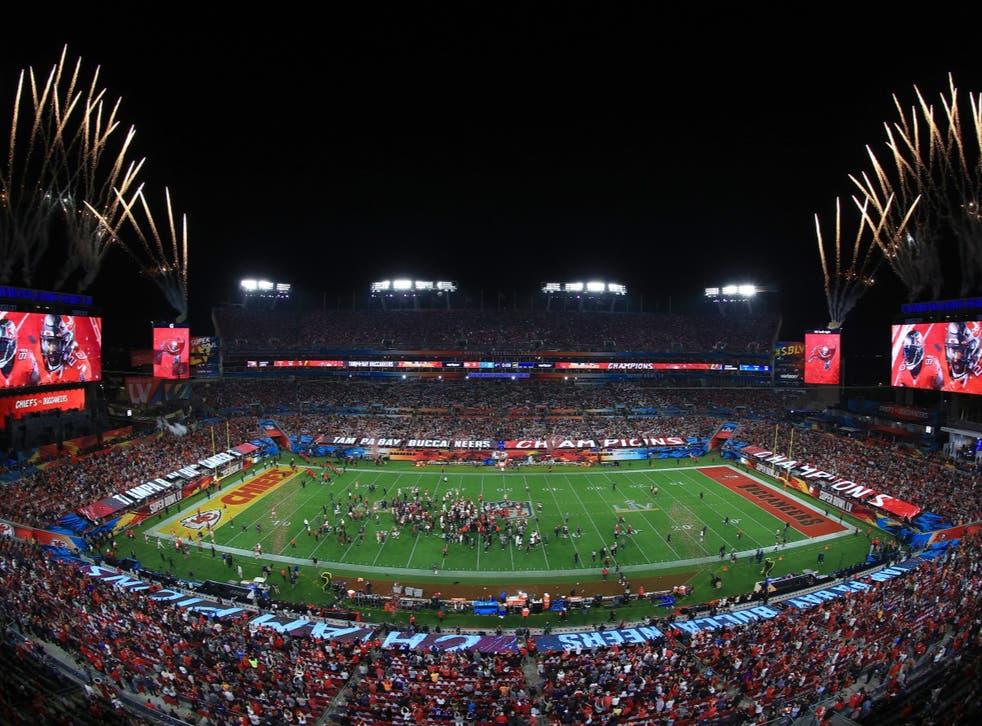 A general view of Raymond James Stadium