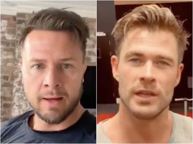 <p>El doble del cuerpo de Chris Hemsworth, Bobby Holland Hanton, admite que está luchando por mantenerse al día con su físico.</p>