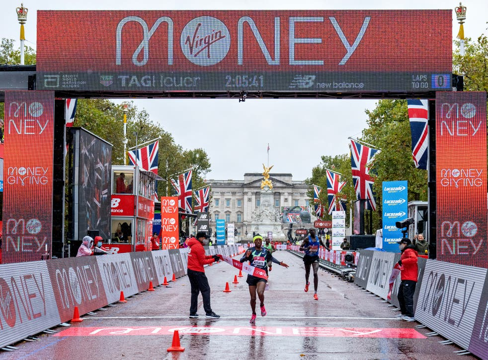 <p>Virgin Money sponsors the London marathon – which is appropriate because the bank faces a hard road</p>