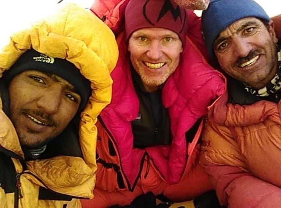<p>Muhammad Ali Sadpara, 45, of Pakistan, John Snorri, 47, of Iceland, and Juan Pablo Mohr, 33, of Chile, went missing from K2 on 3 February. </p>