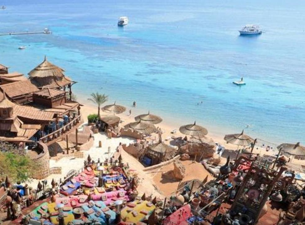 <p>A general view of the development of 'Farsha' mountain lounge areas in the Red Sea resort of Sharm el-Sheikh</p>