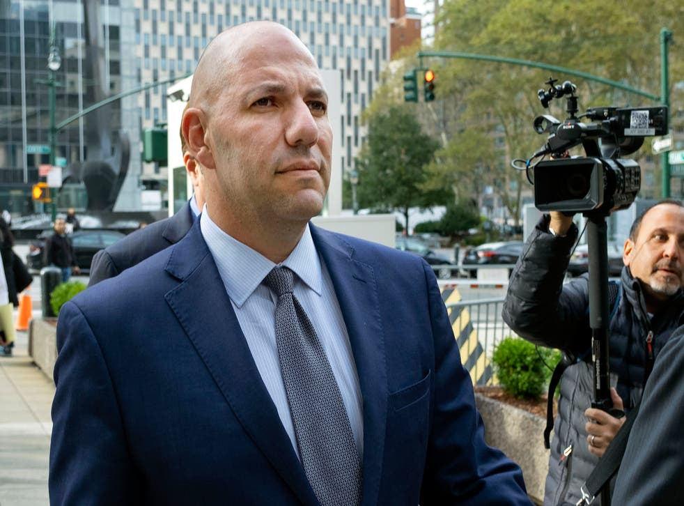 <p>File image: David Correia walks from federal court in New York in October 2019</p>