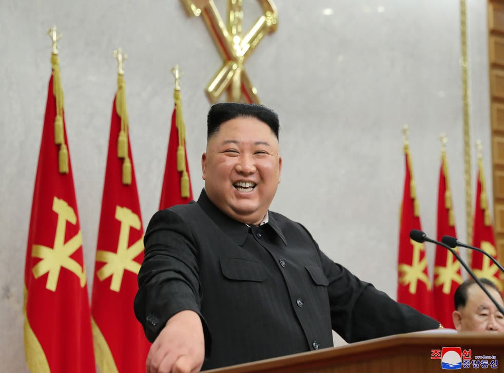 <p>Kim Jong Un attending the 2nd plenary meeting of the 8th Central Committee of the Workers' Party of Korea (WPK) in North Korea</p>