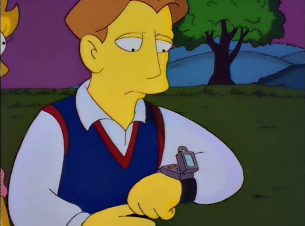 'S-M-R-T': The Simpsons imagines a device similar to a smart watch in the 1994 episode 'Lisa's Wedding'