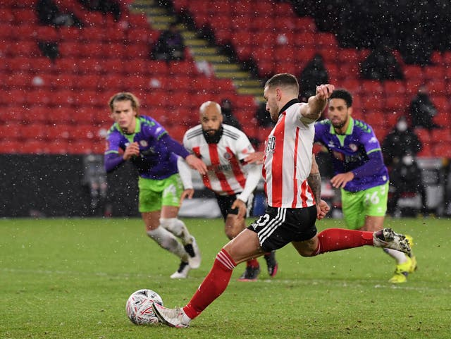 Billy Sharp nets from the spot to settle the fifth-round tie