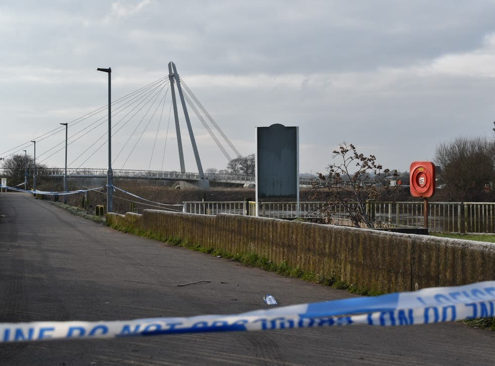 <p>A police cordon near the Diglis footbridge in Worcester, where specialist teams are searching a stretch of theRiverSevernafter a man was arrested on suspicion of murder</p>