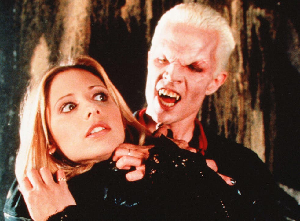 Sarah Michelle Gellar and James Marsters in Buffy the Vampire Slayer