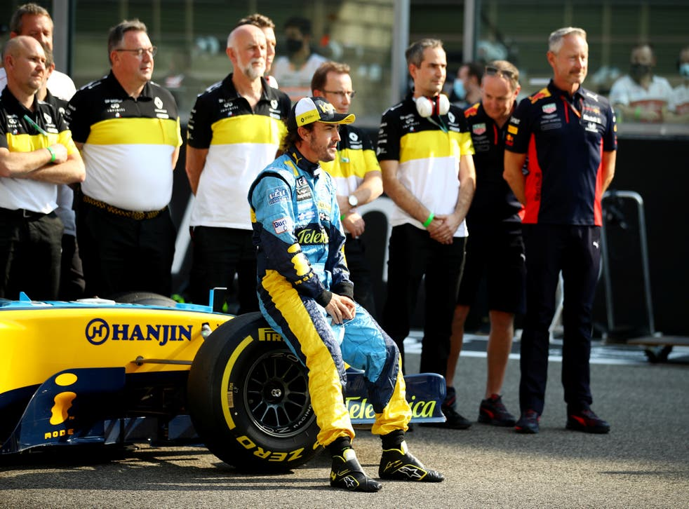 Fernando Alonso pictured on his return to Renault (Alpine)