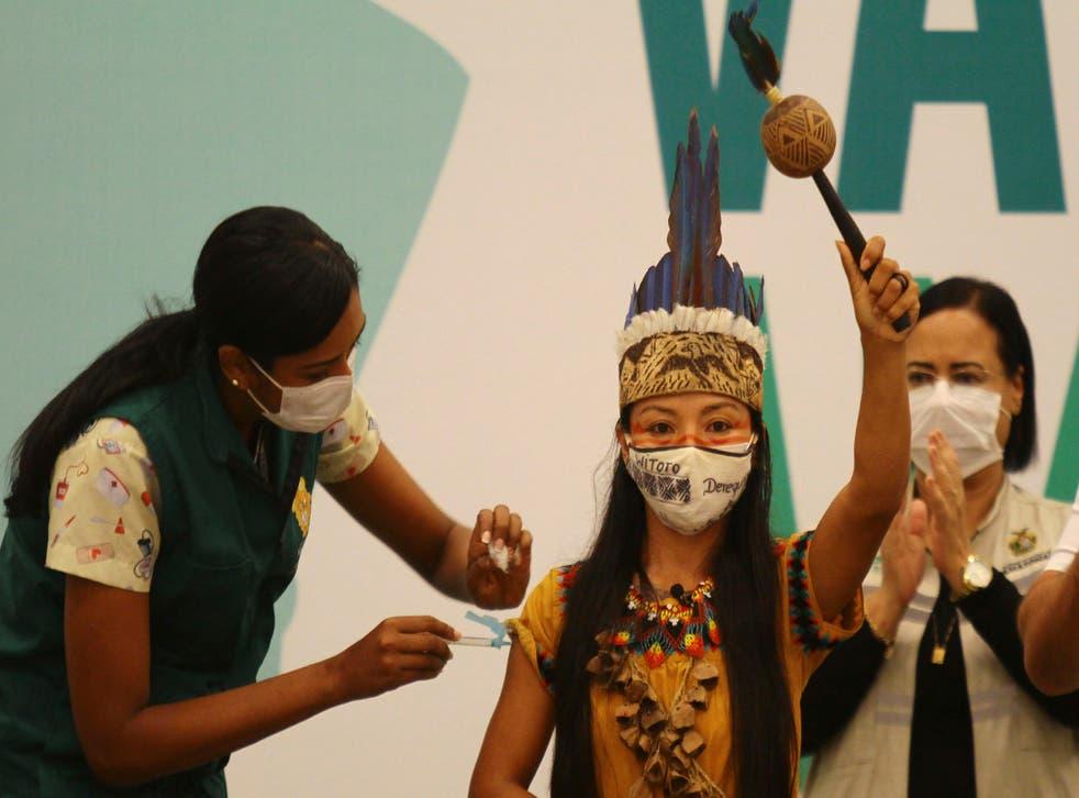 Virus Outbreak Brazil - Vaccination Amazon