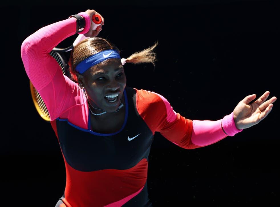 <p>Serena Williams in action</p>
