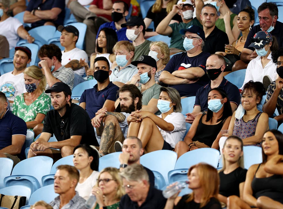 Up to 30,000 fans have been allowed at the Australian Open each day so far
