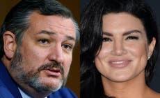 """Gina Carano: Usuarios de Twitter cuestionan la defensa de Ted Cruz a la actriz en medio de la controversia: """"¿has visto el programa?"""""""