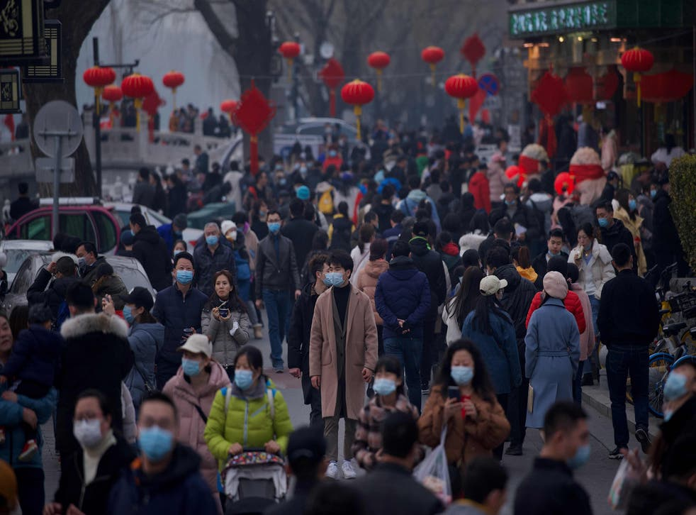 <p>File image: People flock to Houhai lake in Beijing on 12 February, 2021, the first day of the Lunar New Year</p>