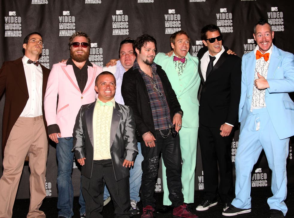 <p>The cast of 'Jackass' in 2010</p>