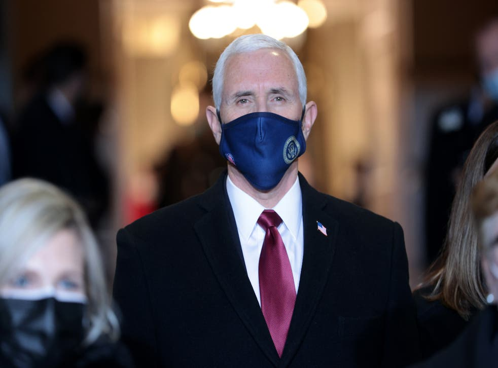 <p>Mr Trump was apparently angered when Mr Pence announced publicly that he would not reject Mr Biden's electoral college vote</p>