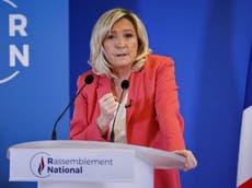 Marine Le Pen, política de la extrema derecha, podría ganar las elecciones de Francia, advierte un ministro