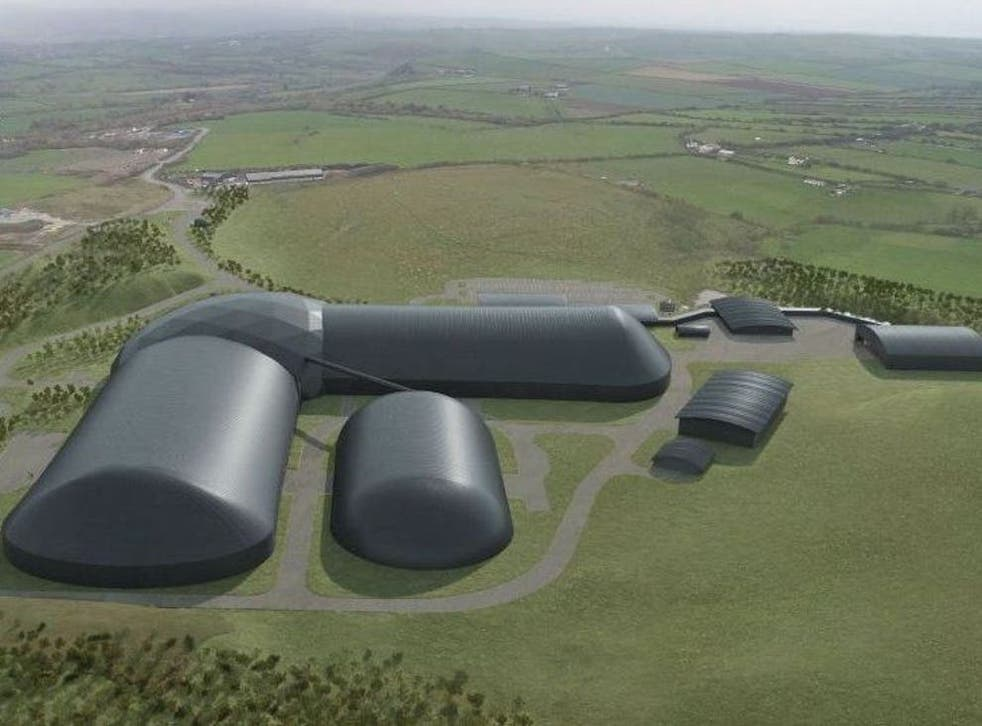 Artist's impression of the new Woodhouse Colliery near Whitehaven