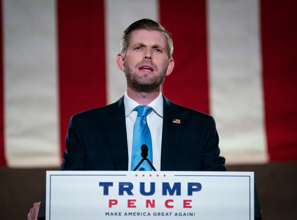 Eric Trump's attempt to brag about his father's acquittal was something of an own goal