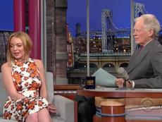 """Resurge la """"horrible"""" entrevista de Lindsay Lohan en 2013 con David Letterman"""