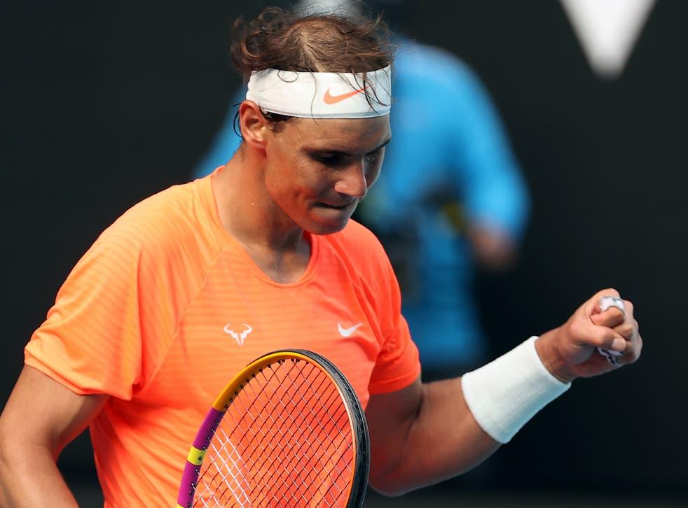 Former Australian Open champion Rafael Nadal beat Fabio Fognini in straight sets