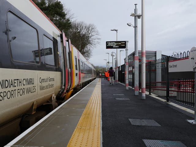 Bow Street station in Ceredigion opened for the first time on Sunday