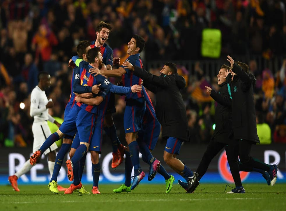Barcelona Vs Psg 2017 Remembering 6 1 Champions League Comeback The Independent