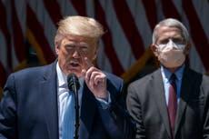 Fauci admite que le preocupaba contraer COVID-19 en la Casa Blanca de Trump