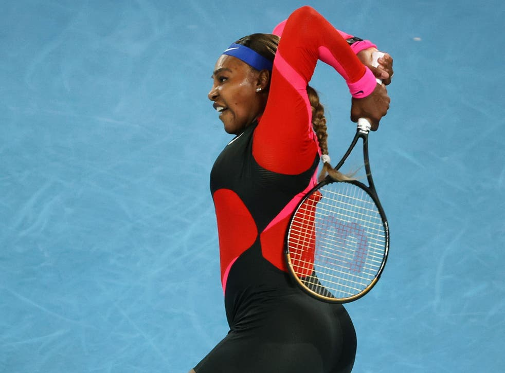 Serena Williams progressed to the final four in Melbourne