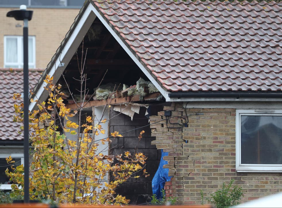 <p>Aftermath of 1 November explosion at home in Waddington Road, Stratford</p>