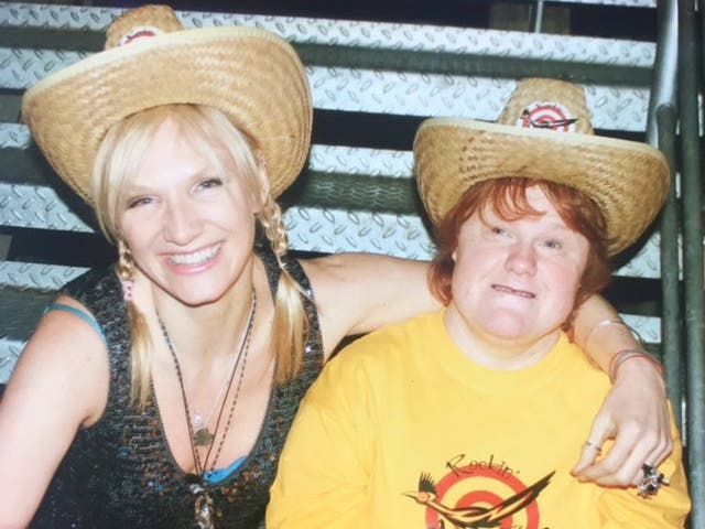 <p>BBC radio DJ Jo Whiley with her sister Frances, who was admitted to hospital with Covid last week</p>