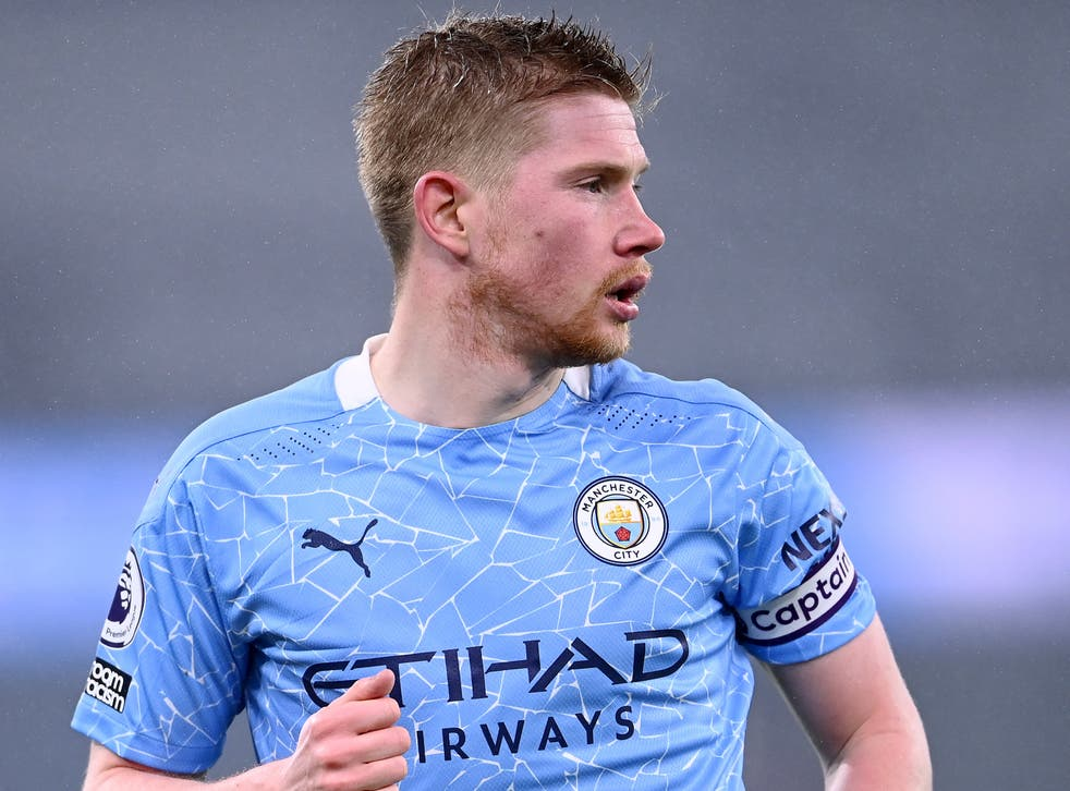 Kevin De Bruyne injury: Manchester City midfielder in contention to play  against Everton | The Independent